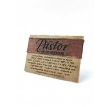 Pastor Servant Leader Plaque (Spanish)