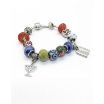 Ten Commandments and Menorah Bracelet