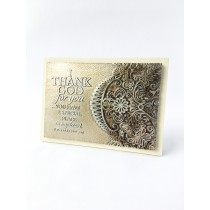 Thankful Lace Plaque