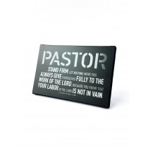 Steadfast Pastor Plaque