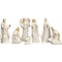 7-Piece Nativity with a Gloria Angel