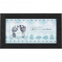 Baby Footprint or Photo Insert Frame (Blue)