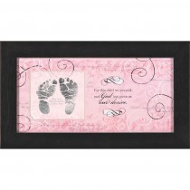 Baby Footprint or Photo Insert Frame (Pink)