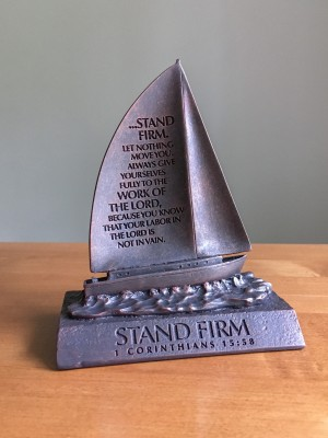 Stand Firm, Boat Sculpture