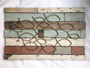 RUSTIC ICHTHUS WALL ART